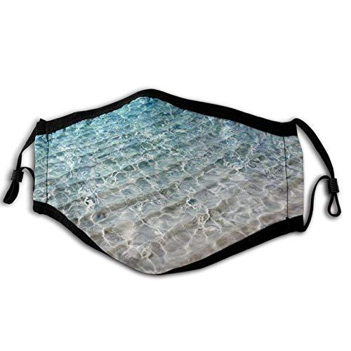 Szipry Beach Adulto A prueba de viento Cara cubierta Unisex Anti filtro polvo sol UV ajustable reutilizable al aire libre cuello polaina