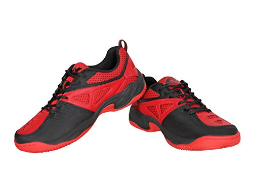 Nivia Energy Men's Red Mesh Tennis Shoes -5