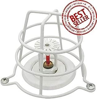 (4 Pack) Greatest White Fire Sprinkler Head Guard for Both 1/2