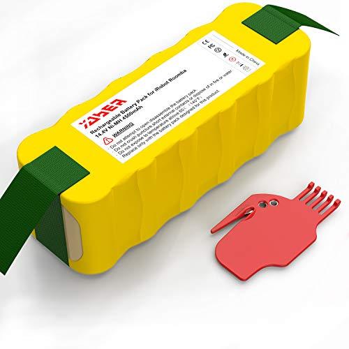 Batterie pour Roomba, Yaber 4500mAh Ni-MH Batterie de Remplacement Compatible avec Aspirateur Roomba Séries 500 600 700 800