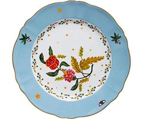 BITOSSI HOME & Funky Table La Tisch, flacher Teller mit Blumenmotiv