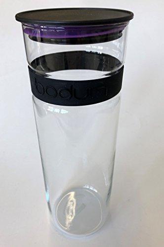 .Bodum Presso Barattolo in vetro (aria Poeta silicone chiusura, forno a microonde/lavabile in lavastoviglie, 1,9liters) Viola