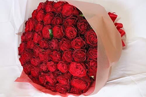 【生花花束】本数選べる 赤いバラ 1本〜999本 赤バラ 最高級薔薇 トップローズ プレゼント プロポーズ 誕生日 母の日 ギフト 還暦祝い【情熱】【永遠の愛】【一生愛してます】 (40本, かすみ草なし)