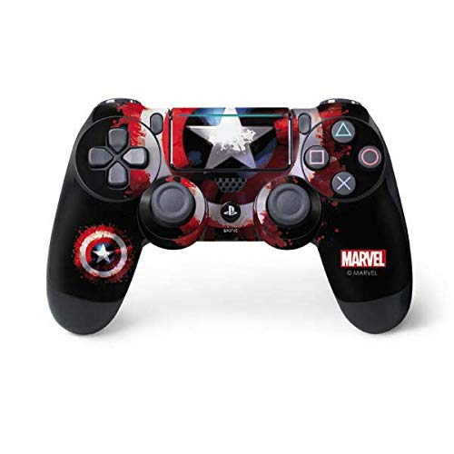 Skinit Decal Gaming Skin for PS4 Pro/Slim Controller - Officially Licensed Marvel/Disney Captain America Shield Design