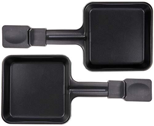 2x Raclette Pfännchen 23178 10x10cm, Emailliert, Universell für Raclettes (Maße siehe Text)