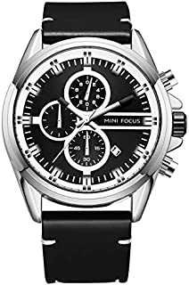 Mini Focus Mens Quartz Watch, Chronograph Display and Leather Strap - MF0130G.02