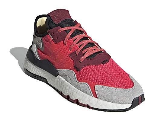 adidas Zapatillas para hombre NITE Jogger, color rojo
