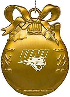 University of Northern Iowa - Pewter Christmas Tree Ornament - Gold