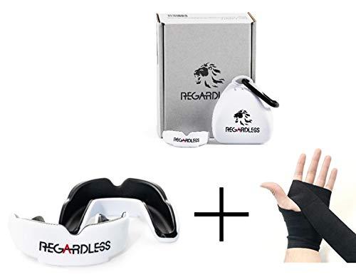 REGARDLESS Performance Lite Mundschutz/Zahnschutz und 108 Zoll Boxbandagen - für Kinder und Erwachsene - Ideal für Boxen, MMA, Kickboxen, Muaythai