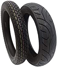 TIRE SET COMBO: Front Tire 3.50-18 and Rear Tire 130/80-17 for Motorcycles and Large Scooters