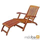 IND-70006-DC Deck Chair Sun Flair Liegestuhl Sonnenliege aus Holz ergonomisch