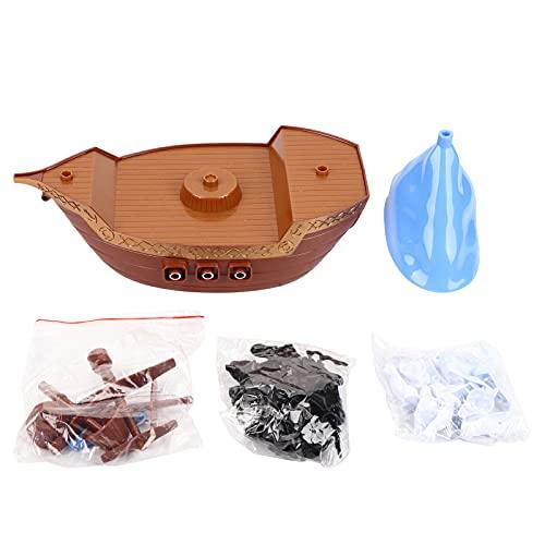 Juego de equilibrio de barco pirata de escritorio Juguete para niños Juego de juguetes interactivos de interacción padre-hijo Clásico para 2 o más de 2 jugadores para niños mayores de 3 años