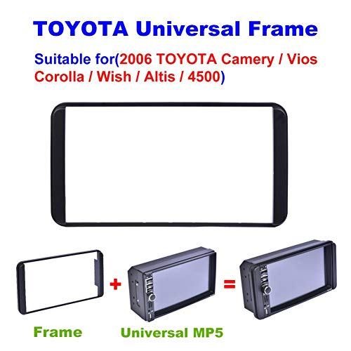 Enjoyyouselves Auto-Player-Rahmen für Toyota Corolla 2003-2006 Stereo-DVD-Player - 178 x 100 mm Doppel-Din-Autoradio-Installationsrahmen Surrounded Trim Panel Kit apposite