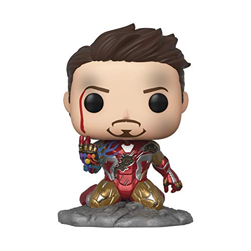 Funko Pop! Avengers Endgame: I Am Iron Man Glow-in-The-Dark Deluxe Vinyl Figure, Multicolored