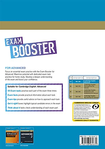 Exam Booster for Advanced. Self-study Edition. Book with Answer Key and Audio.