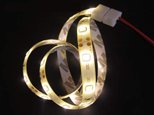 Bande 150 cm = 90LED 3014 Blanc Chaud 3000 – 3500 K mm.8 étanche 7 W avec câble d'alimentation de cm.15
