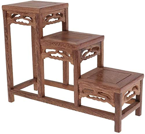 Mesa de exhibición de Estante Bonsai de 3 Capas en Miniatura para...