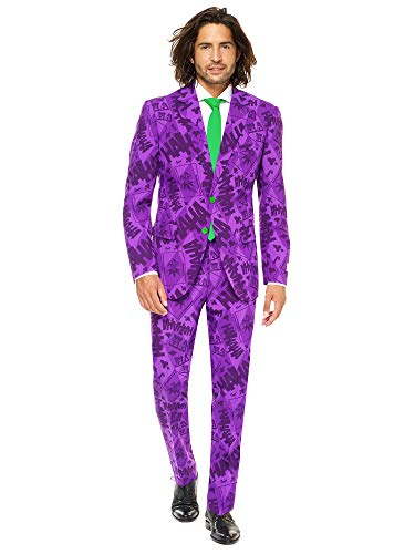 Mens The Joker Suit and Tie By Opposuits,The Joker,50