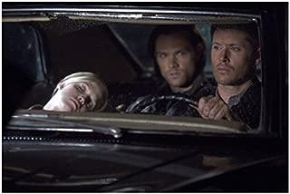 Supernatural Jensen Ackles driving car with Jared Padalecki and Brit Sheridan 8 x 10 Inch Photo