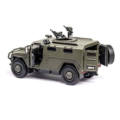 U/K Simulieren Army Truck Panzerwagen Spielzeug Diecast Metal-Militärfahrzeug-Modell mit Ton und LED-Licht, Jungen Geschenke Zeigen Metall Modell Spielzeug, 1: 32 (Size : 1)