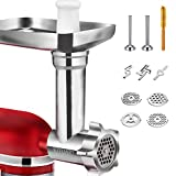 Metal Food Grinder Attachments for KitchenAid Stand Mixers, Durable Meat Grinder, Sausage Stuffer...