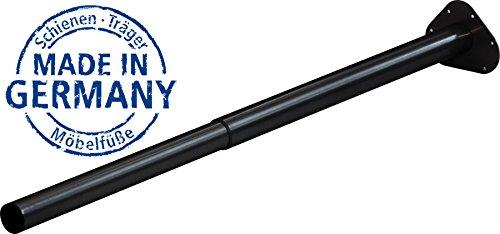 IB-Style - Einzel- Teleskop-Tischbein | ohne Befestigungsschrauben | 6 Variationen | Höhenverstellbar | Ø 50 mm, Form: Rund | Schwarz | 80-120 cm