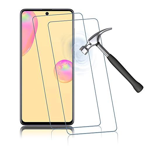 Preisvergleich Produktbild Agedate 2 Stück Panzerglas Schutzfolie für Samsung Galaxy A71,  Ultra HD Panzerglasfolie für Samsung Galaxy A71,  Volle Abdeckung,  Anti-Scratch Displayschutzfolie (Transparent)