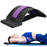 Back Stretcher Adjustable for Lumbar Back Pain Relief, HONGJING Lumbar Traction Spine Deck for Lower & Upper Muscle, Great for Herniated Disc, Sciatica, Scoliosis