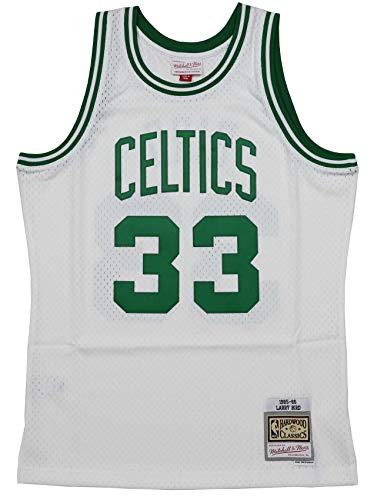 Mitchell & Ness Boston Celtics Larry Bird 1985 Trikot Home Swingman, Herren, weiß, Large