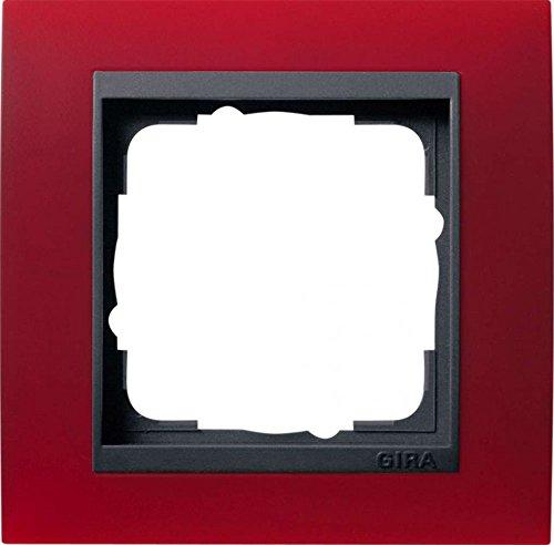 Gira 021188 Abdeckrahmen 1-fach für anthrazit Event opak, rot