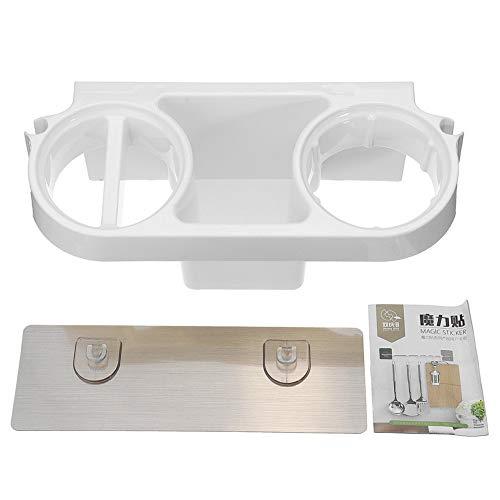 Secador de pelo estante peine titular organizador de almacenamiento de baño autoadhesivo montado en la pared soporte para champú enderezador