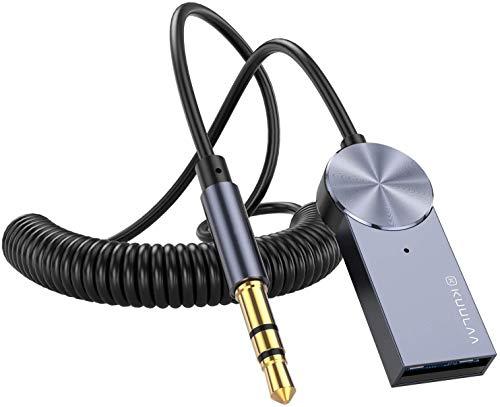 Bluetooth Adapter Empfänger Auto, USB Bluetooth 5.0 Empfänger mit Bluetooth kompatibel Mit Tragbare Audio 3.5 mm Aux & USB Fahrzeug Bluetooth Sender ausrüstung