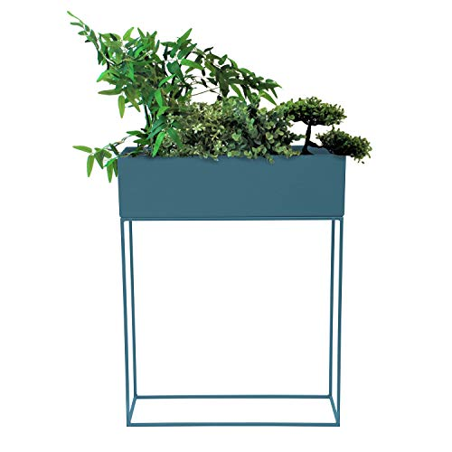 Pflanzkasten Blumenständer, Metall, 55x20x70cm, Blau (Tapestry Blue) - Blumenkasten Pflanzenkasten Blumenkasten Hochbeet Balkonkasten