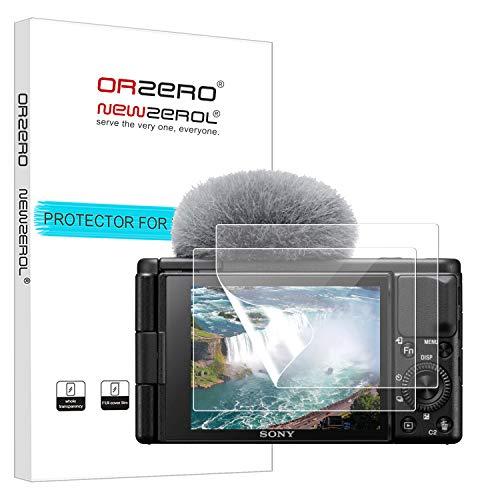 NEWZEROL 2 Stuck Bildschirmschutz fur Sony Vlog Kamera ZV 1 Premium Qualitat Blasen und kratzfestes TPU 3D Edge to Edge Vollstandige Abdeckung Weicher Bildschirmschutz