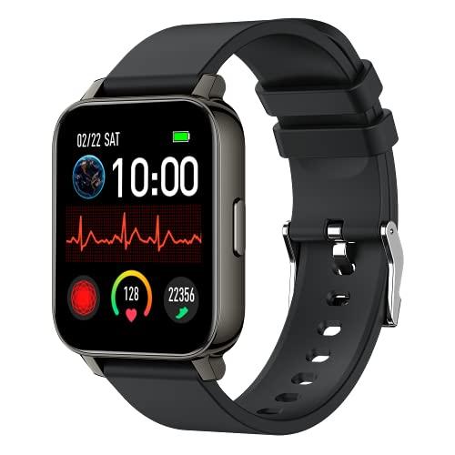 LUNIQUESHOP OBLONG Smartwatch 1,69   Touch Schermo Orologio Fitness Uomo Donna Activity Tracker, IP67 Cardiofrequenzimetro da Polso Contapassi, Notifiche Messaggi Controller Fotocamera Musicale (nero)