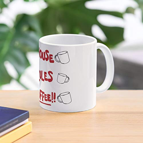 Allbirds House Mug My Inspired Rules Coffee out Knives Taza de café con Leche 11 oz