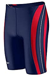 long legs swim briefs blue and red