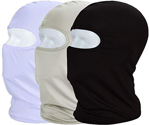 MAYOUTH Sturmhaube Balaclava UV Schutz Gesichtsmasken für Radfahren Outdoor Sports Vollgesichtsmaske Breath, Schwarz + Weiß + Grau, M