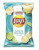 Lays Lime and Sea Salt Potato Chips, Limited Edition Flavor, 7.75 Oz Bag