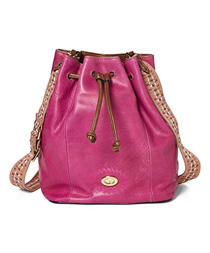 Tignanello Milan Drawstring Cross Body W/RFID Protection, Sangria/Cognac