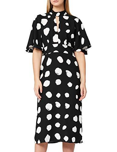 Marchio Amazon - TRUTH & FABLE Vestito Elegante Donna, Multicolore (Printed Spot), 38, Label: XXS