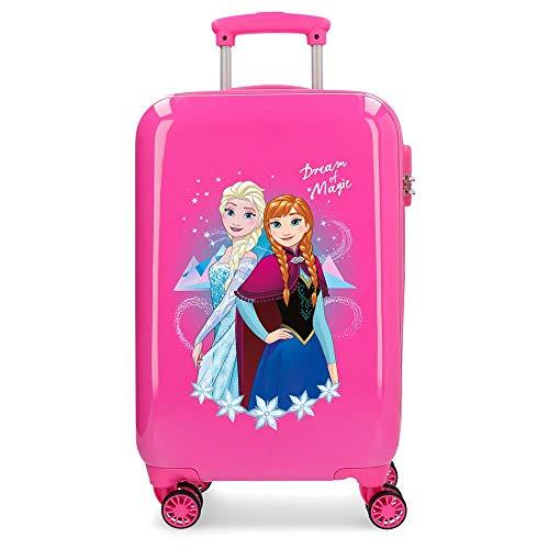 Disney Frozen Dream of Magic Maleta de cabina Rosa 37x55x20 cms Rígida ABS Cierre combinación 32L 2,5Kgs 4 ruedas dobles Equipaje de Mano