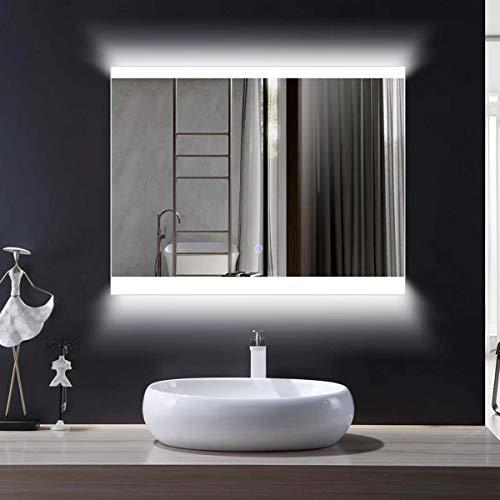 DECORAPORT Wall Light Mirror for Bathroom, Horizontal Morden Wall Mounted Makeup Vanity Mirror 28 x...