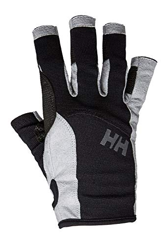 Helly Hansen SAILING GLOVE SHORT – Unisex Handschuhe zum Segeln und für Wassersport – Lederhandschuhe als Wind- und Wetterschutz auf dem Wasser