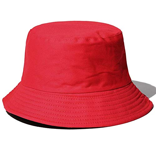 Fishing Hat, Kangol Bucket Hat Trekking Hat Dustproof Windproof Soft Cotton & Polyester Fabric Windproof for Hiking Camping Traveling Fishing for Beach, Pool, Park, Fishing, Hiking (Color : Red)