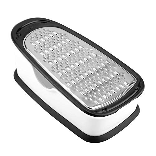 Kitchen Grater, Anti-slip Anti-rust Stainless Steel Sturdy Grater Reusable Multi Grater for Vegetable Kitchen Tool with Bottom Base(black)