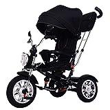 Triciclo Triciclo para bebés, Triciclo Triciclo para niños pequeños y niños, Triciclo de pedal de 3 ruedas para niños con neumáticos sin inflación, canasta de almacenamiento, manillar y asiento, marc
