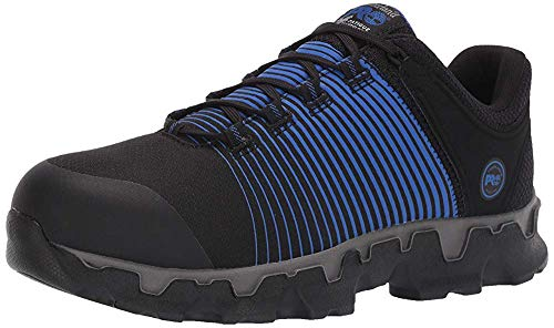 Timberland PRO Men's Powertrain Sport Alloy Toe SD+ Industrial Boot, black/blue, 9 W US