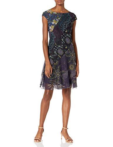 Desigual Vest_Houston Vestido Casual, Azul, M para Mujer