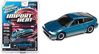 1990 Honda CRX Tahitian Green Street Freaks Series Limited Edition to 3,600 Pieces Worldwide 1/64 Diecast Model Car by Johnny Lightning JLCP7132
